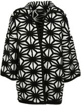 DSQUARED2 Oversize Pattern Knit Coat