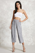 Forever 21 FOREVER 21+ Metallic Pleated Culottes