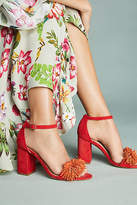Anthropologie Pommed Heeled Sandals