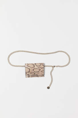 H&M Belt with Change Purse - Beige