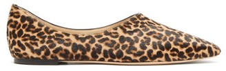 Jimmy Choo Joselyn Leopard-print Calf-hair Ballet Flats - Leopard