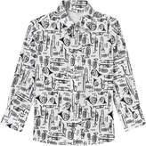 Dolce & Gabbana White Scribble Musical Instrument Shirt