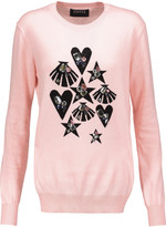 Markus Lupfer Natalie embellished cotton-jersey sweater