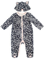 Jessica Simpson Cheetah Print Two-Piece Footie and Hat Set