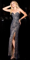 Scala Beaded Lace Sweetheart Dress