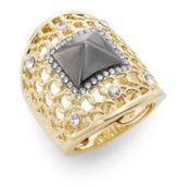 Saks Fifth Avenue Glitz Woven Knuckle Ring/Two-Tone