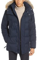 Andrew Marc Men's Cumberland Genuine Coyote Fur Trim Down & Feather Fill Parka