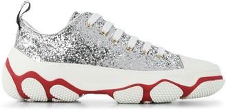 Red(V) Glam Run glitter sneakers