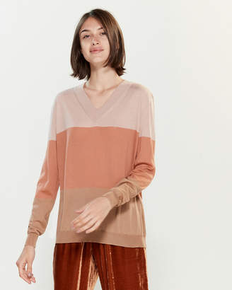 Roberto Collina Color Block Long Sleeve Sweater