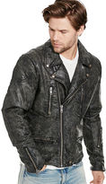 Denim & Supply Ralph Lauren Slim Coated Denim Moto Jacket