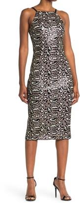 Rachel Roy Karla Leopard Sequin Midi Dress