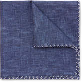 Brunello Cucinelli - Silk And Cotton-blend Chambray Pocket Square