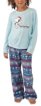 Munki Munki Matching Kids Peanuts Family Pajama Set