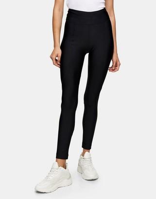 Topshop high shine leggings in black