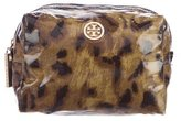 Tory Burch Leopard Print Cosmetic Pouch