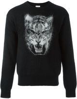 Saint Laurent tiger intarsia jumper