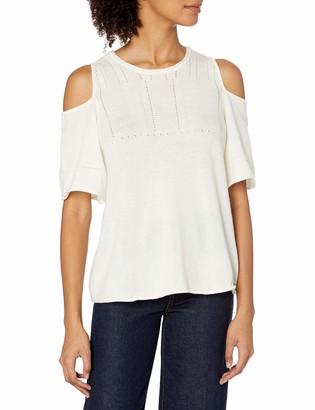 Velvet by Graham & Spencer Women's Cashmere Blend Cold Shoulder Sweater
