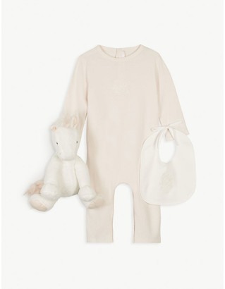 Chloé Embroidered logo cotton toy and all-in-one gift box 1-9 months