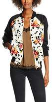 New Look Women's Floral Contrast Sleeve Jacket