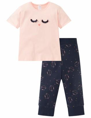 Schiesser Girls' Cat Zoe Md Anzug Kurz Pyjama Sets