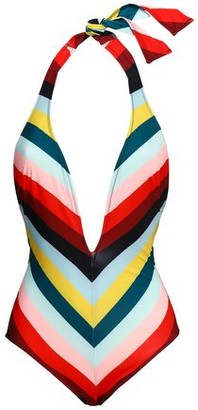 Solid & Striped The Willow Striped Halterneck Swimsuit
