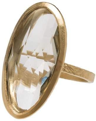 ara 5 Octobre gold plated oval ring