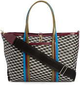 Pierre Hardy removable shoulder strap tote - unisex - Patent Leather/Canvas - One Size
