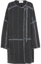 Chloé Oversized Wool And Cashmere-blend Bouclé Coat - Navy
