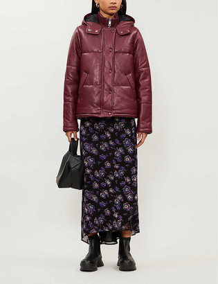 Whistles Padded leather puffer jacket