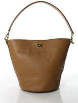 Dolce & Gabbana Brown Leather Gold Accent Medium Tote Handbag