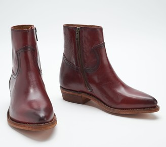 Frye Leather or Suede Side Zip Booties - Billy