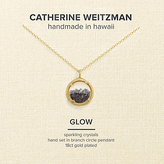 Catherine Weitzman Mini Crystal Gem Shaker Round Pendant Necklace