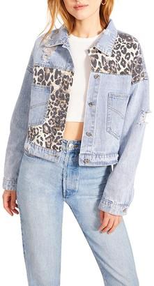 Steve Madden Leopard Denim Jacket