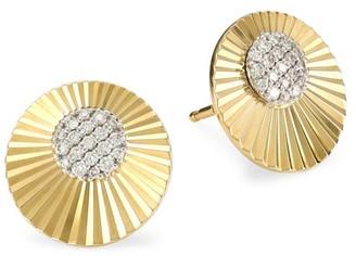 Phillips House Aura 14K Yellow Gold & Diamond Mini Stud Earrings