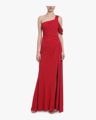 Badgley Mischka Asymmetrical Draped Gown