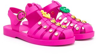 Gucci Kids Charm Detail Jelly Shoes