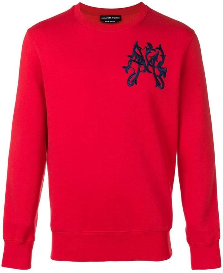 Alexander McQueen folk embroidered jumper