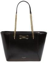 Ted Baker 'Jalie - Geometric Bow' Leather Shopper - Black