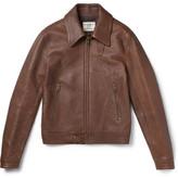 Kent & Curwen Kapore Full-grain Leather Bomber Jacket - Brown