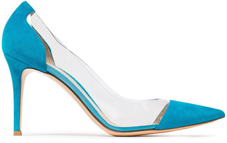 Gianvito Rossi Pvc-paneled Suede Pumps
