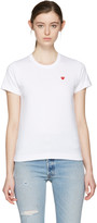 Comme des Garcons White Small Heart T-Shirt