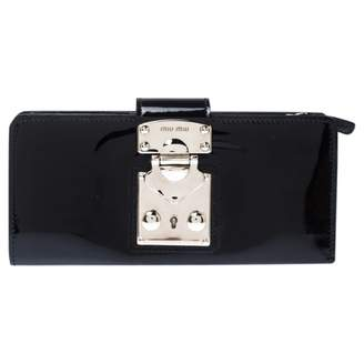 Miu Miu Black Patent leather Wallets