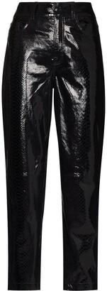 REMAIN Elsa lizard-skin effect trousers