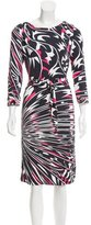 Emilio Pucci Belted Abstract Dress