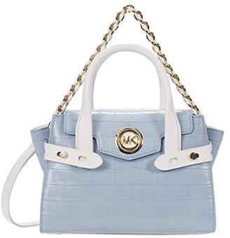 MICHAEL Michael Kors Carmen Extra Small Flap Messenger (Pale Blue Multi) Handbags