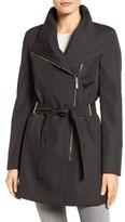 Calvin Klein Women's Asymmetrical Belted Rain Coat