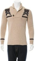 Sandro Wool Shawl Neck Sweater