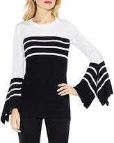 Vince Camuto Handkerchief Sleeve Stripe Sweater