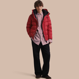 Burberry Down-filled Hooded Jacket With Detachable Sleeves