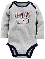 Carter's Baby Boys Grandpa's Sidekick Bodysuit Gray